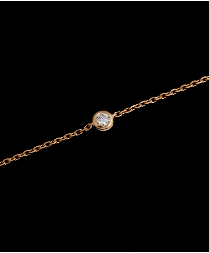 Bracelet Chaine Diamant Or