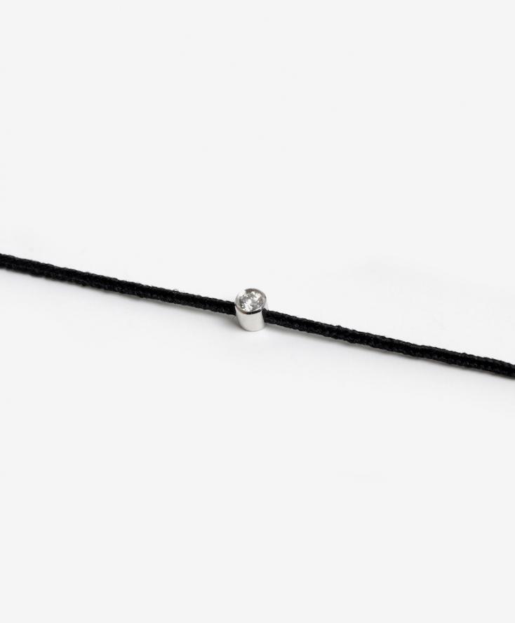 Bracelet Cordon Diamant Serti Clos Or