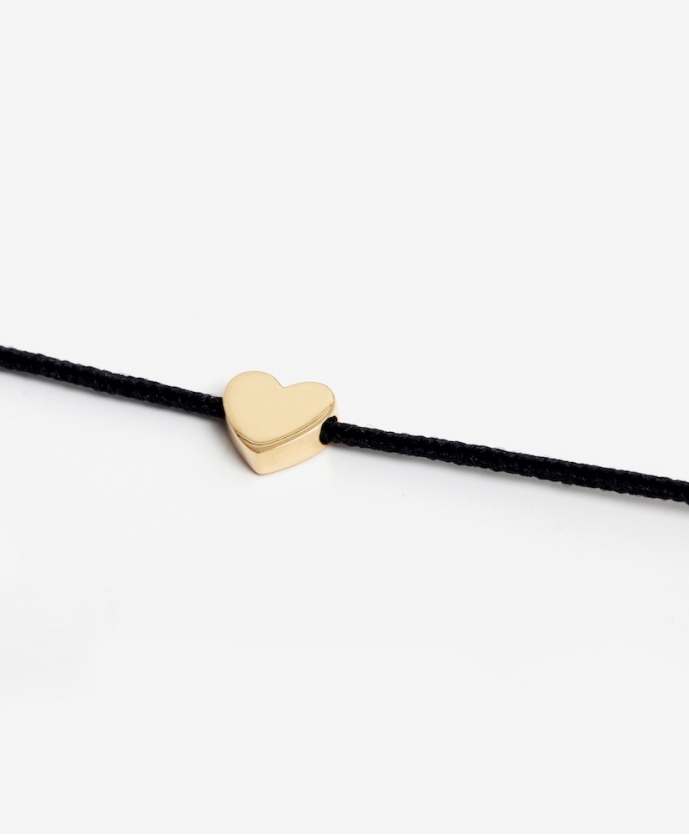 Bracelet Cordon Coeur Or