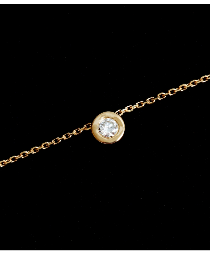 Collier Chaine Diamant Or 2,27 gr