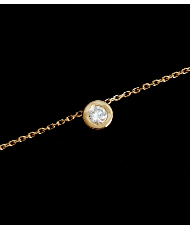 Collier Chaine Diamant Or