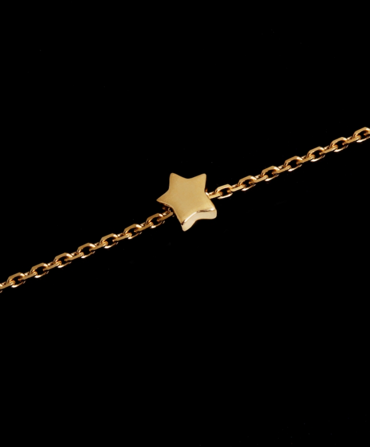 Collier Chaine Étoile Or