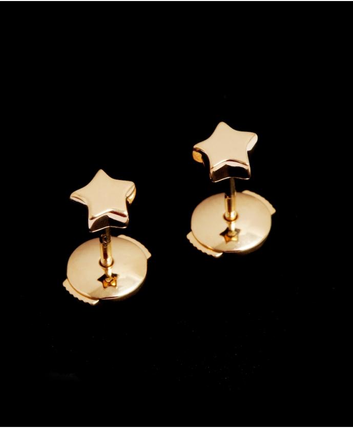 Boucles d'oreilles Étoile Or